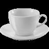Tasse mit Untertasse | elegant | 250 ml | 8033179 Weiß