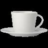 Tasse mit Untersetzer | Milano | 180 ml | 9198601 Weiß