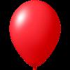Luftballon | Ø 33 cm | Kleinauflage | 9485951s rot