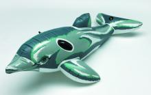 Aufblasbarer Delfin | Schwarze Handgriffe | PVC