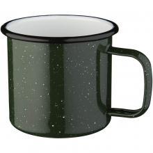 Emaille Tasse | 475 ml | hochwertig | 92100510 Grün/Weiß