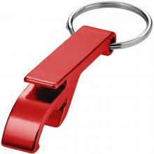 Flaschenöffner mit Schlüsselring | Druck & Gravur | Aluminium | max171 Rot