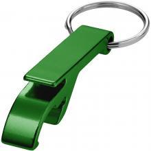 Flaschenöffner mit Schlüsselring | Druck & Gravur | Aluminium | max171 Grün