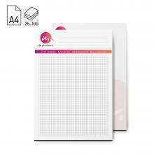 Schreibblock 125 Stück | DIN A4 | 25, 50 oder 100 Blatt