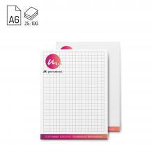 Notizblock | A6 | Vollfarbe | 25-100 Blatt