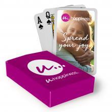 Spielkarten mit Schachtel   Aufdruck Kartenrückseite & Schachtel