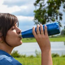 Trinkflasche Theo - 630 ml | Edelstahl | Glänzend | 155827