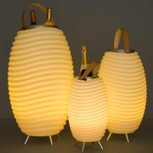 Kooduu | Mittel | LED-Lampe, kabelloser Lautsprecher und Kühler