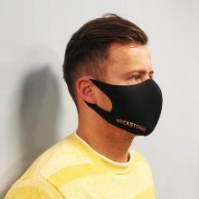 Gesichtsmaske schwarz | 1-lagig | Schnell | max166