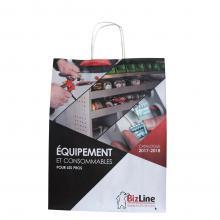 Papiertasche | DIN A4 | Vollfarbe | Kordelgriff | 109KRF02FC