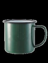 Emaille Becher | 285 ml | hochwertig | 282300 Grün