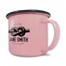 Emaille Becher | 285 ml | hochwertig | 282300 Pink