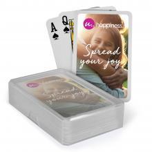 Spielkarten mit Plastikbox   Aufdruck Kartenrückseite