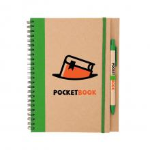 A5 | Notizbuch | Mit Stift | Recyclingkarton