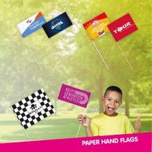 Papierfahne | 115gr | 11,5 x 24cm | Kunststoffstab| günstig | 9410181