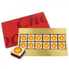 Schokolade mit Logo | Geschenkbox | 12 Stück