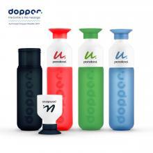Dopper Flasche - 450 ml | Wasserflasche mit Becher | Trinkwasserprojekt