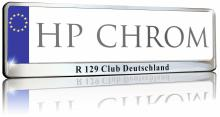 Kennzeichenhalter Chrom   DE   verchromt   701001 Chrom