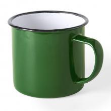 Emaille Tasse - 350 ml| Vintage Design | Promo | 155571 Grün