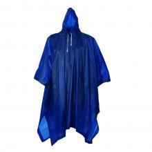 100/5000 Poncho Blau | Kapuze | 0,13 mm PVC