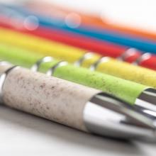 Öko-Kugelschreiber Mira | Weizenstroh  | Blaue Mine | 156335