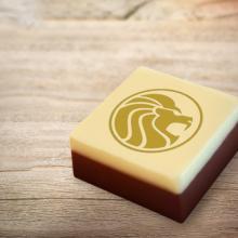 Schokolade mit Logo | Geschenkbox | 6 Stück