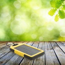 Powerbank   4.000 mAh   Solar-Ladefunktion