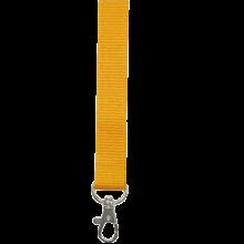 Schlüsselband 15 mm bedrucken, Polyester, in PMS-Farbe | 87315mm1 Gelb
