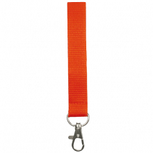 Schlüsselband 15 mm bedrucken, Polyester, in PMS-Farbe | 87315mm1 Orange