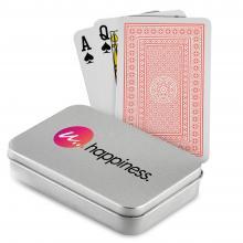 Spielkarten   Bedruckte Blechdose   Klassisch