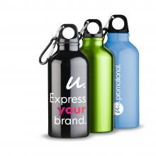 Trinkflasche | 400 ml | Karabiner | Aluminium