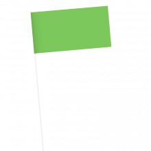 Papierfahne | 115gr | 11,5 x 24cm | Kunststoffstab| Vollfarbe | 941018 Weiß