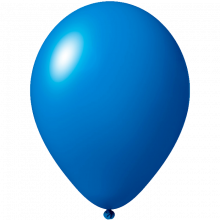 Reklameluftballon | 27 cm | 9475851 Mittel Blau