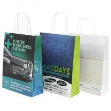 Papiertasche | Vollfarbe | DIN A4 | Kordelgriff