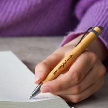 Öko-Kugelschreiber Gronk   Bambus   Blaue Mine   max047