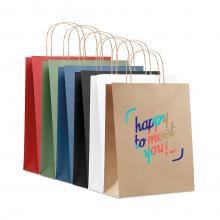 Kraft Tasche | DIN A4 | Kordelgriff | Schnell
