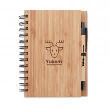 A5 | Notizbuch | Kugelschreiber | Bambus