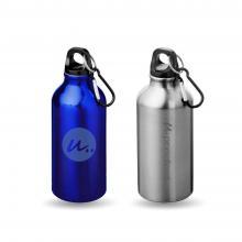 Trinkflasche mit Karabiner   400 ml   Gravur