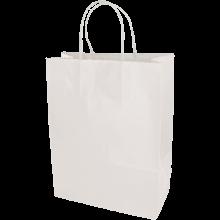 Papiertasche | DIN A4 | Kordelgriff | Eco | Maxp017 Weiß