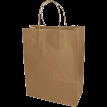 Papiertasche Lina - A4 | DIN A4 | Kordelgriff | Vollfarbe | 109KRF02 Braun