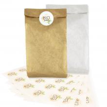 Braune Tasche | Ohne Griffe | 37 x 8 x 18 cm | Vollfarbaufkleber