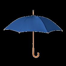 Regenschirm Stuttgart - Ø 104 cm | Holzstiel mit Metallrippen |Holzgriff | Maxs035 Blau
