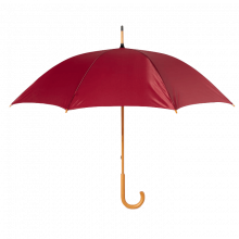 Regenschirm Stuttgart - Ø 104 cm | Holzstiel mit Metallrippen |Holzgriff | Maxs035 Bordeauxrot