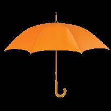 Regenschirm Stuttgart - Ø 104 cm | Holzstiel mit Metallrippen |Holzgriff | Maxs035 Orange