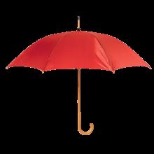 Regenschirm Stuttgart - Ø 104 cm | Holzstiel mit Metallrippen |Holzgriff | Maxs035 Rot