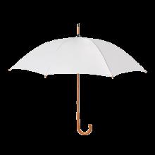 Regenschirm Stuttgart - Ø 104 cm | Holzstiel mit Metallrippen |Holzgriff | Maxs035 Weiß