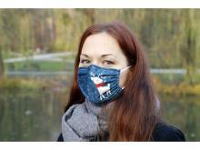 Gesichtsmaske | Mikrofaser | 1-lagig | Made in EU | Full colour | 123002