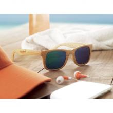 Sonnenbrille | Spiegelglas + Holzoptik