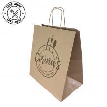 Kraftpapiertasche Gastro | 32 x 17 x 39 cm | Kordelgriff  | Maxp021 Braun