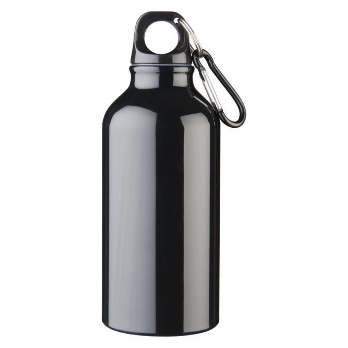 Trinkflasche mit Karabiner   0,35 l   92100002 Schwarz